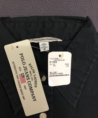 (JEFF) 全新 POLO JEANS COMPANY 黑色 白色 短袖襯衫合售不拆賣 一件原價1980 買到賺到