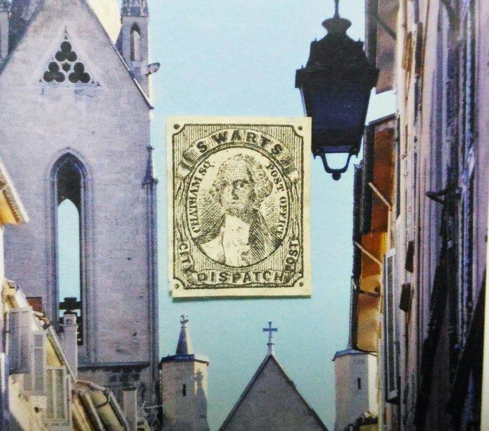 (極品珍藏)美國 斯瓦茨城(Us Swarts City). 1846-48年 發貨郵報 Despatch Post