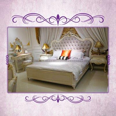 [紅蘋果傢俱] CT-006 新古典系列床架 床頭櫃 歐式 新古典 高檔 法式 奢華