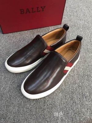 【全新正貨私家珍藏】BALLY 黑色真皮休閒男鞋 HERALD  小碼特價