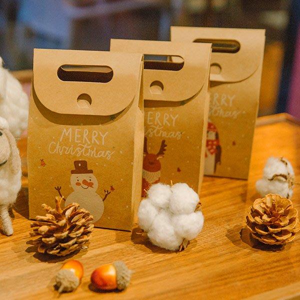 第二代淺色印刷復古牛皮紙聖誕動物包裝盒 禮物盒 【XM0264】《Jami Honey》