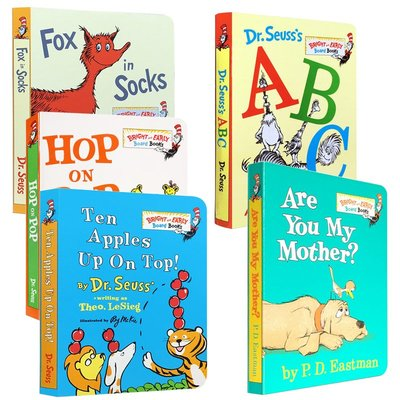 Dr Seuss abc蘇斯博士5冊 Are You My Mother/Ten Apples Up On Top/Fo