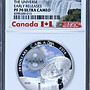 【鑒 寶】(世界各國紀念幣)加拿大2016年宇宙電波球鑲嵌玻璃夜光銀幣NGC-PF70 HNC2702