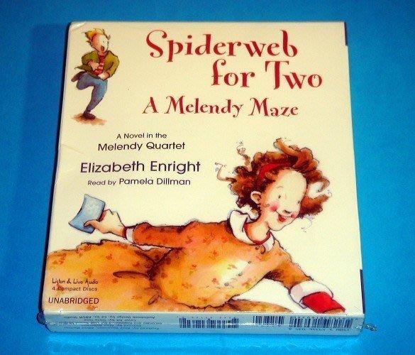 【幼兒英語故事CD】小pen 外文*Spiderweb for Two A Melendy Maze【4片裝】
