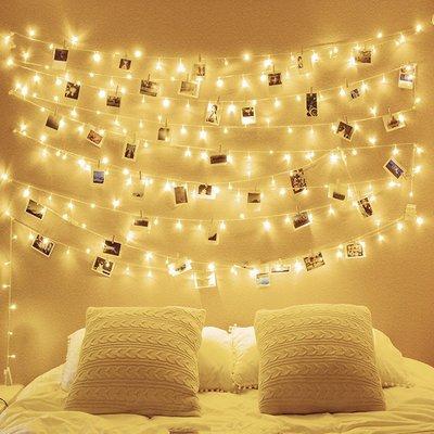新年led小彩燈閃燈串燈滿天星星燈房間裝飾燈電池燈宿舍掛燈燈泡