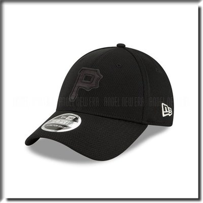 【ANGEL NEW ERA 】MLB 2019 球員周 匹茲堡 海盜 P 老帽 鴨舌帽 全黑 可調 穿搭 低調 硬版
