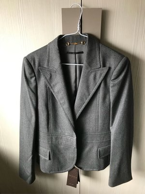 GUCCI 鐵灰色西裝式短版外套 全新