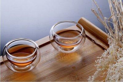 (玫瑰Rose984019賣場)雙層玻璃杯50cc~雙層不燙手.耐熱150度/隔熱杯/品茗杯/透明小茶杯/喝茶杯