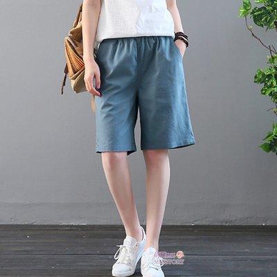 超好穿的中長棉麻口袋五分褲 4色系 M-2XL可選 萌蔓物語【KX3648】韓氣質女短褲