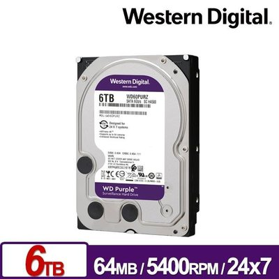 ☆永恩通信☆ 台南 高雄 奇亞幣 chia全新WD WD62PURZ 紫標 6TB 3.5吋監控系統硬碟 三年保