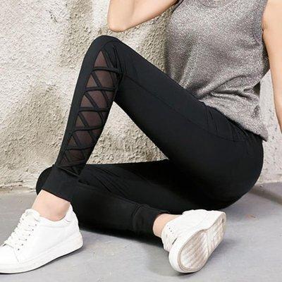 運動褲女新款休閒褲瑜伽寬鬆長褲黑色褲子束腳小腳褲潮