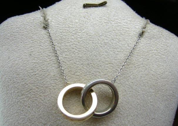 [吉宏精品交流中心]TIFFANY&CO. 蒂芬妮 925純銀 18K金 1837 雙圈 双環 項鍊