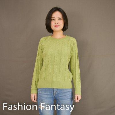 【Fashion Fantasy】6色 暖冬清新鈕扣麻花毛衣