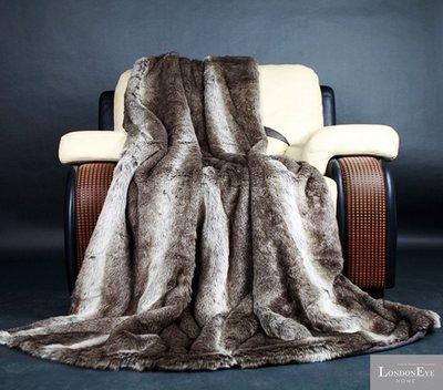 【 LondonEYE 】NeoClassic新古典X奢華織品系列X床尾裝飾毯/旗 狐狸毛條紋光感 豪宅實品屋BL03廣