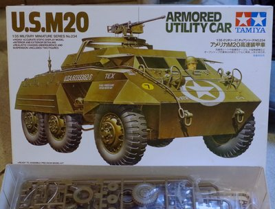 Tamiya- 35234 -US- M20 Armored  Car -w/crew- 1/35-加費2元- M-250