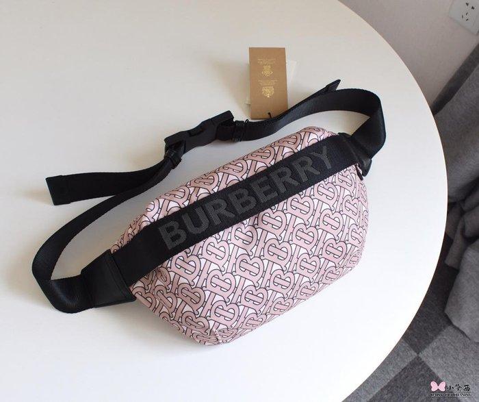 【小黛西歐美代購】Burberry 巴寶莉 2019款 粉色花色腰包 歐美時尚  美國outlet代購