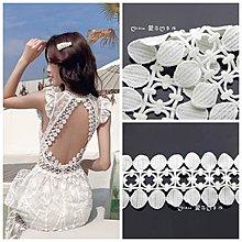『ღIAsa 愛莎ღ手作雜貨』圓點復古花邊白色水溶棉花邊蕾絲花邊服裝布材料設計輔料寬8cm