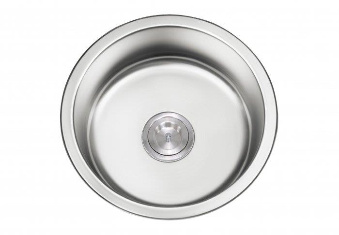 ¢魔法廚房 SUS304不鏽鋼 啞光CSK M420DA吧檯圓形小水槽 厚度1.2MM      420*420