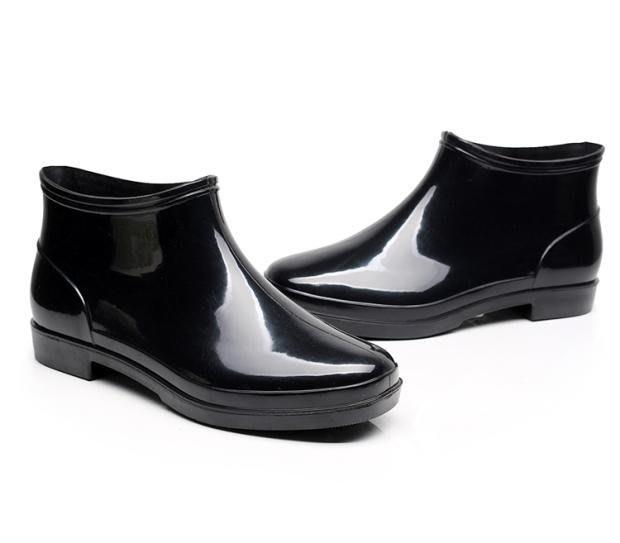 夏季雨鞋男短筒防滑水鞋低筒平底水靴防水工作鞋膠鞋廚房男士雨靴