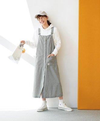 Sunny clouds 20春季人氣款 經典工裝風格 條紋背心裙  (現貨)