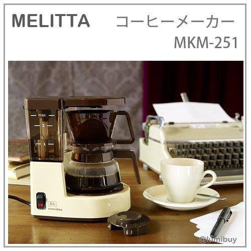 【現貨 限量復刻版】日本直送 Melitta aromaboy 1979年 復古 美式 咖啡機 2人份 MKM-251
