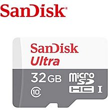 高雄 晶豪泰 SanDisk Ultra microSD UHS-I 32GB 記憶卡-白 (公司貨) 48M