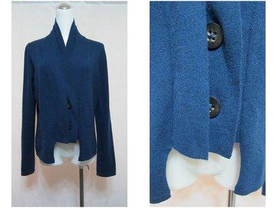 義大利名品~STRIKING~青藍造型毛料外套.-100%-CASHMERE.原價快四萬