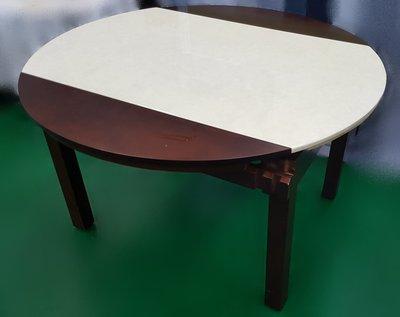 【宏品二手家具館】中古家具 家電E30907*胡桃石面餐桌*咖啡桌/會議桌/洽談桌/中古 書桌椅 會議桌椅 辦公桌椅