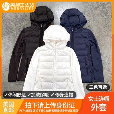 小木子店鋪美國直郵 32 DEGREES 32度女士秋冬簡約純色加絨保暖修身連帽外套