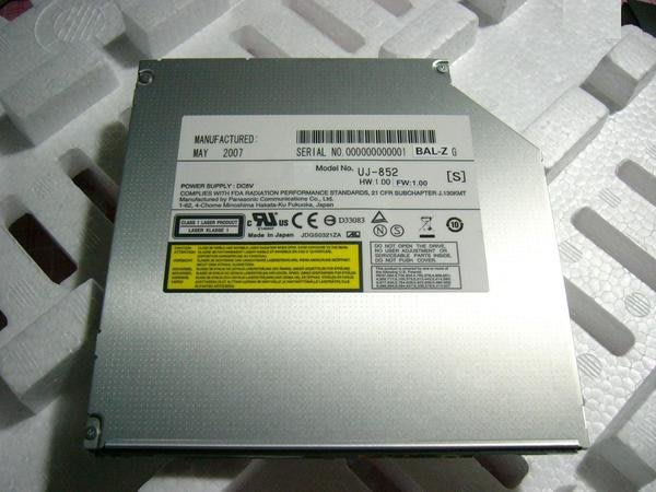 【全新Panasonic筆電用 UJ-852 S 燒錄DL】【9.5mm】M5.P7010.VAIO.S.TR