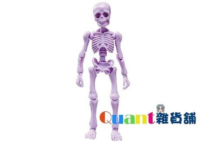 ∮Quant雜貨舖∮┌日本盒玩┐RE-MENT 骷髏 Pose Skeleton 療癒骷髏人 大人 01 #05 粉紫色