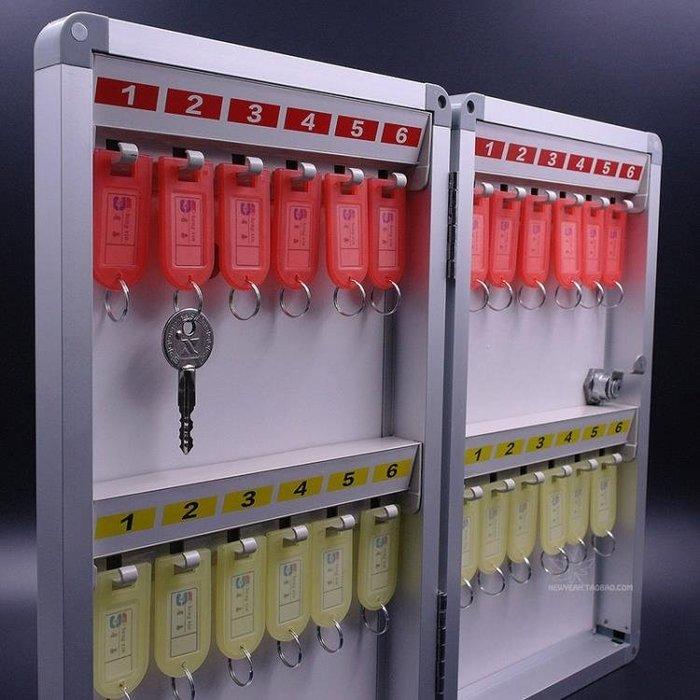 【可樂生活】鋁合金24位鑰匙箱多功能壁掛式管理收納保管鑰匙盒公司門房鎖匙櫃-免運費