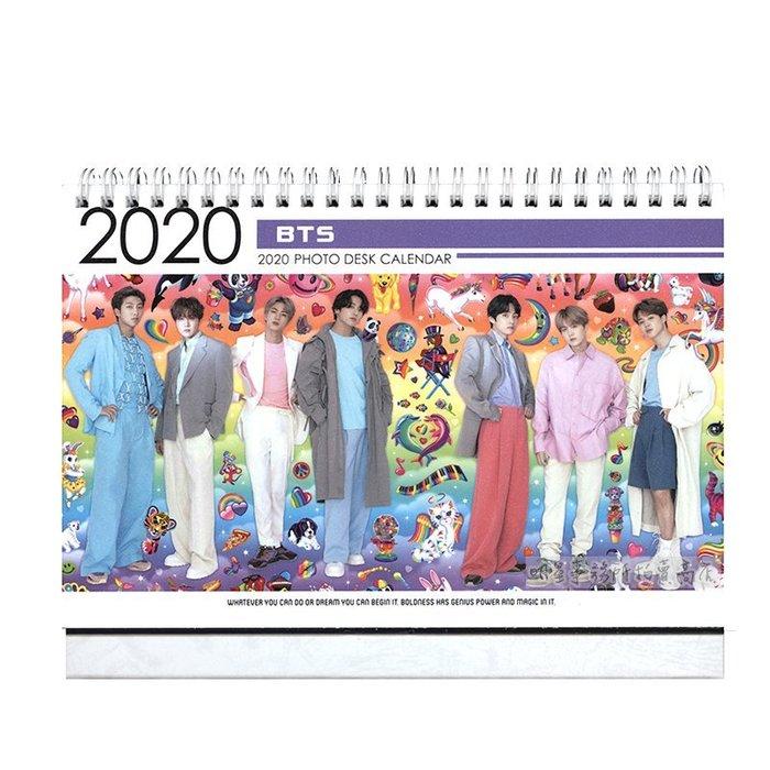【 特價 】韓國 탁상용 달력 正韓進口 防彈少年團 BTS 2020 ~ 2021 直立式照片桌曆台曆