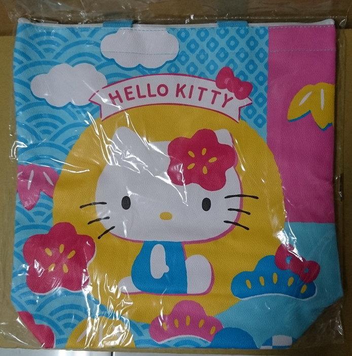 Sogo Hello Kitty 直立式手提袋 環保購物袋 購物袋 手提袋 環保背袋 肩背袋 (有拉鍊)
