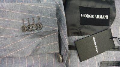 全新吊牌歐碼54號 ARMANI 頂級黑標 單排扣西裝上衣