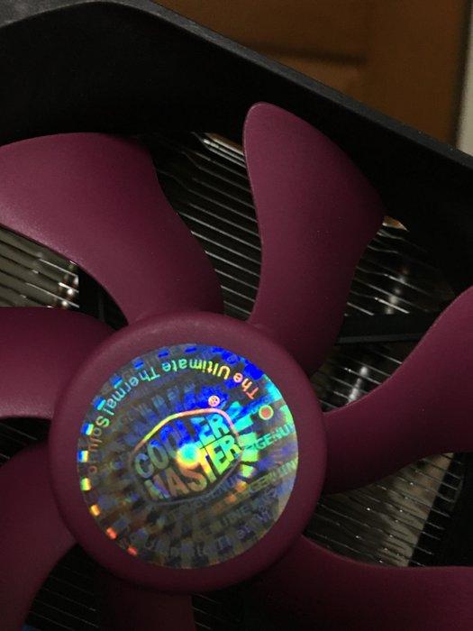 Cooler Master  單風扇 CPU 散熱器 只有115X可用 台南善化可面交