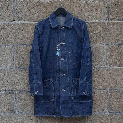 牛仔偵探 日本品牌 Lost Control 津巴威棉長版步兵夾克 10oz 輕薄面料 2018年新款