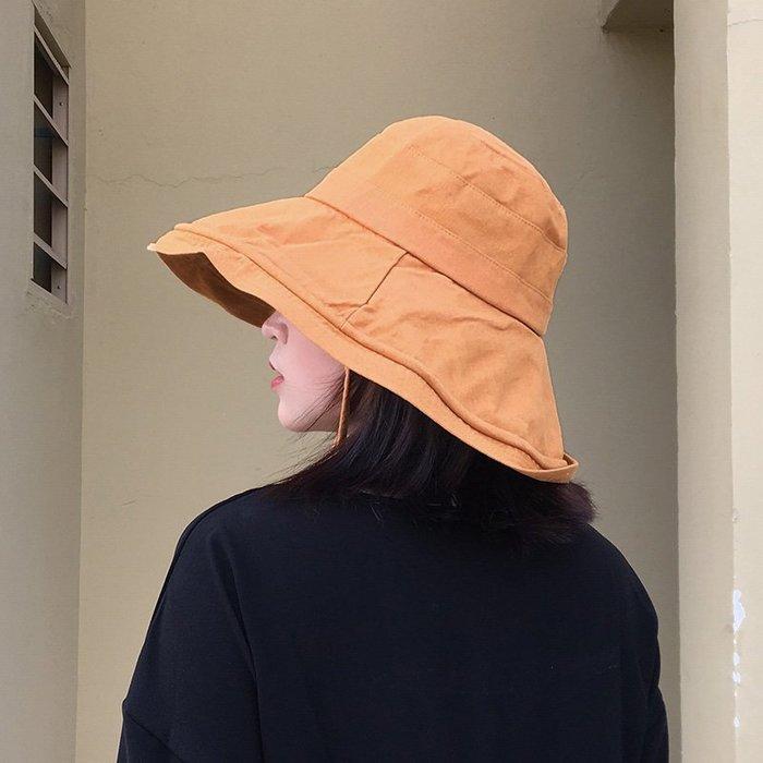 棉麻寬大帽沿遮陽防曬帽 夏天折疊布帽 涼帽 出遊旅行漁夫帽 防紫外線 抗UV