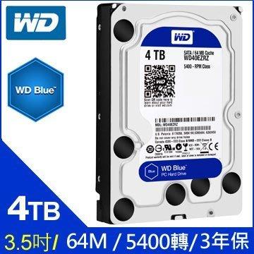 【MR3C】含稅附發票 全新盒裝 WD威騰 4T 4TB WD40EZRZ 藍標 桌上型硬碟