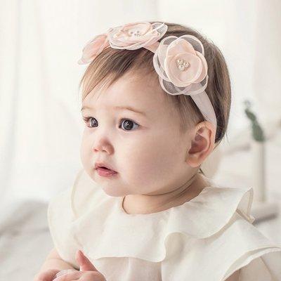髮帶 韓版 寶寶 雪紡 花朵 造型 髮飾