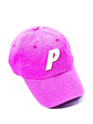 PALACE  Big P badge logo Cap.粉色 棒球帽 老帽 帽子