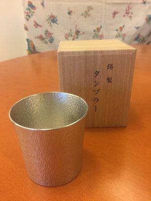 日本製 大阪錫器  錫製杯組 中(木盒裝)