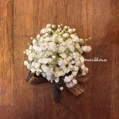 H10。伴郎胸花。新郎胸花。拍照胸花。客製胸花。台北自取【Flower&House花藝之家】