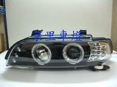 京里車燈專網  寶馬 BMW E39 520 525 530 黑框雙光圈LED方向燈魚眼大燈組