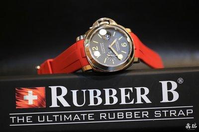 【 鑫瑞鐘錶】瑞士製造 RUBBERB  PANERAI 沛納海 LUMINOR PAM1312 PAM024