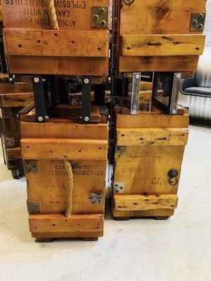 ~ 囍 閱 家 居 ~ LOFT 工業 軍事 彈藥 收納 舊貨 軍規木板 軍用彈藥箱置物櫃
