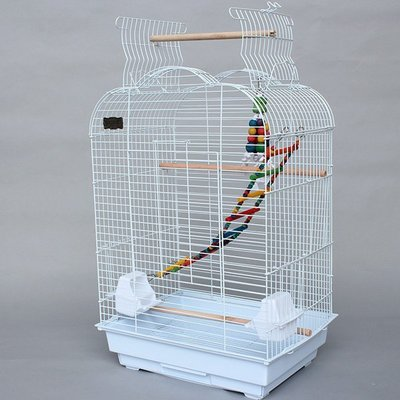 『多寶格調』 互動性大鸚鵡鳥籠 金屬大號繁殖籠 小太陽金太陽和尚八哥籠3301 互動性鸚鵡籠 帶繁殖箱口-200」