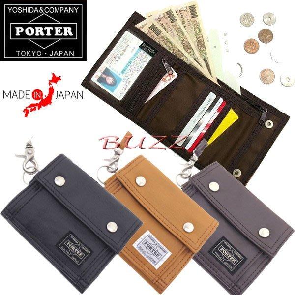 巴斯 日標PORTER屋-四色預購 PORTER FREE STYLE 橫型皮夾-短夾 707-07175