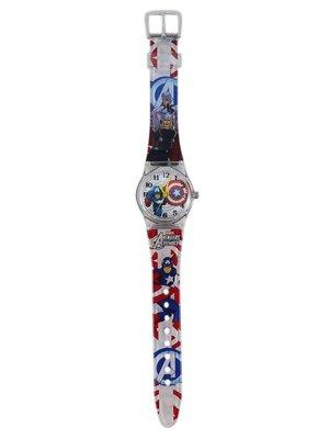 【卡漫迷】 美國隊長 手錶 M ㊣版 Captain America  男童 卡通錶 男錶 兒童錶  2 6 0 元