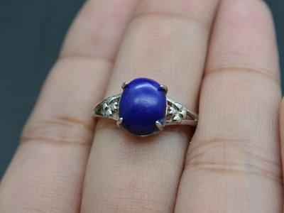 《青金石專區》《戒指》天然青金石Lapis lazuli  戒指 戒子 戒圈#12 (4709)